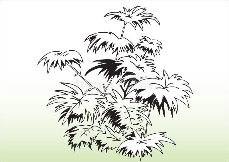 Entregue árvores da tração ilustração royalty free