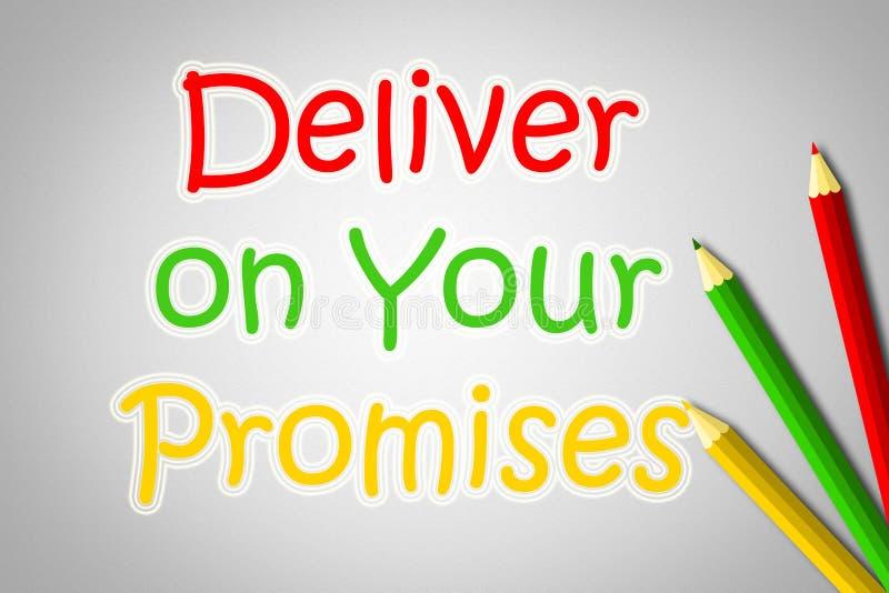 Entregue em seu conceito das promessas ilustração royalty free