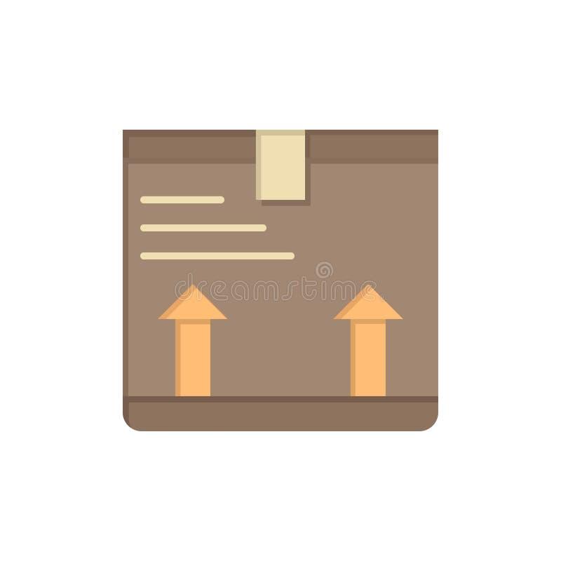 Entregue, encajone, flecha, encima del icono plano del color Plantilla de la bandera del icono del vector libre illustration