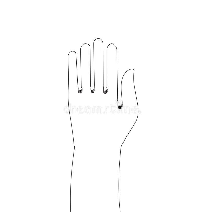 Entregue a esboço a ilustração simples com uma vasta gama de aplicações ilustração royalty free