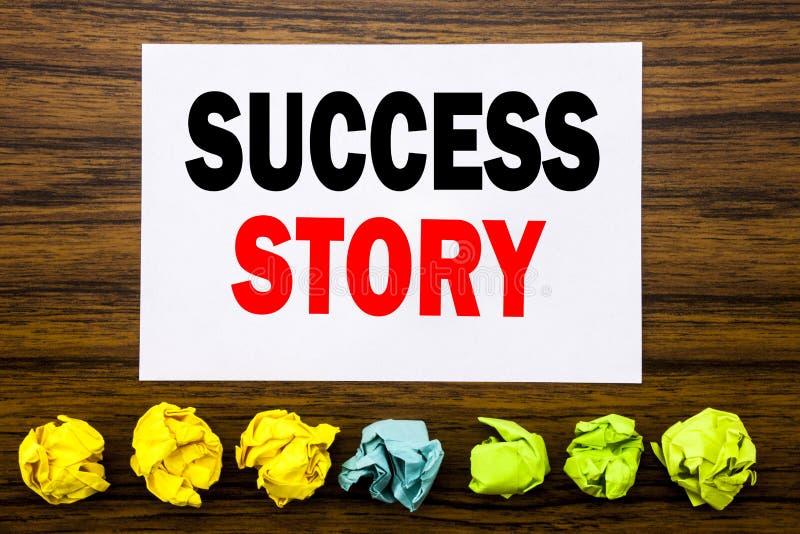 Entregue a inspiração do subtítulo do texto da escrita que mostra a história de sucesso Conceito para a motivação da inspiração e fotografia de stock