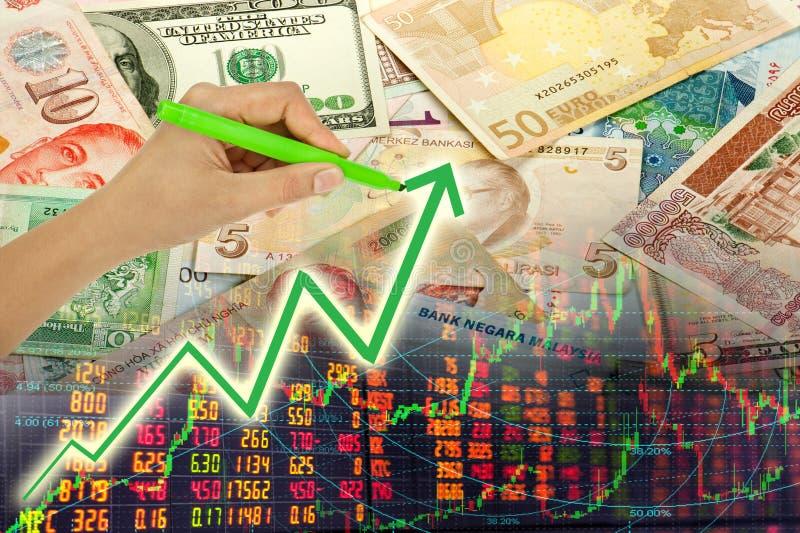 Entregue o gráfico da escrita fotos de stock royalty free