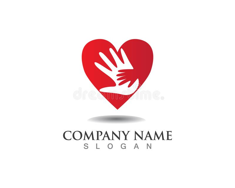 Entregue o logotipo da ajuda e os ícones app do molde dos símbolos ilustração royalty free