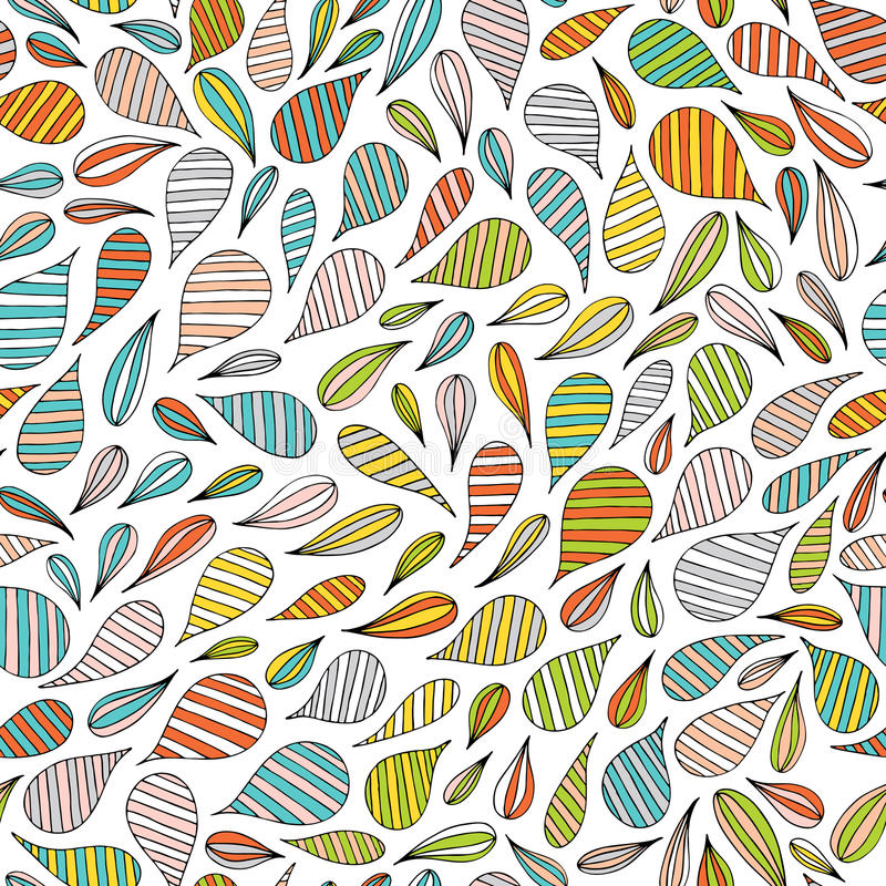 Entregue o teste padrão sem emenda abstrato tirado no estilo de memphis Cores brilhantes coloridas do vetor no fundo branco ilustração stock