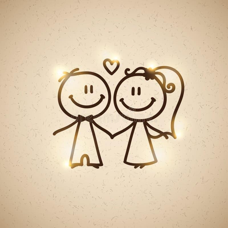 Pares do casamento, vetor eps 10 ilustração do vetor