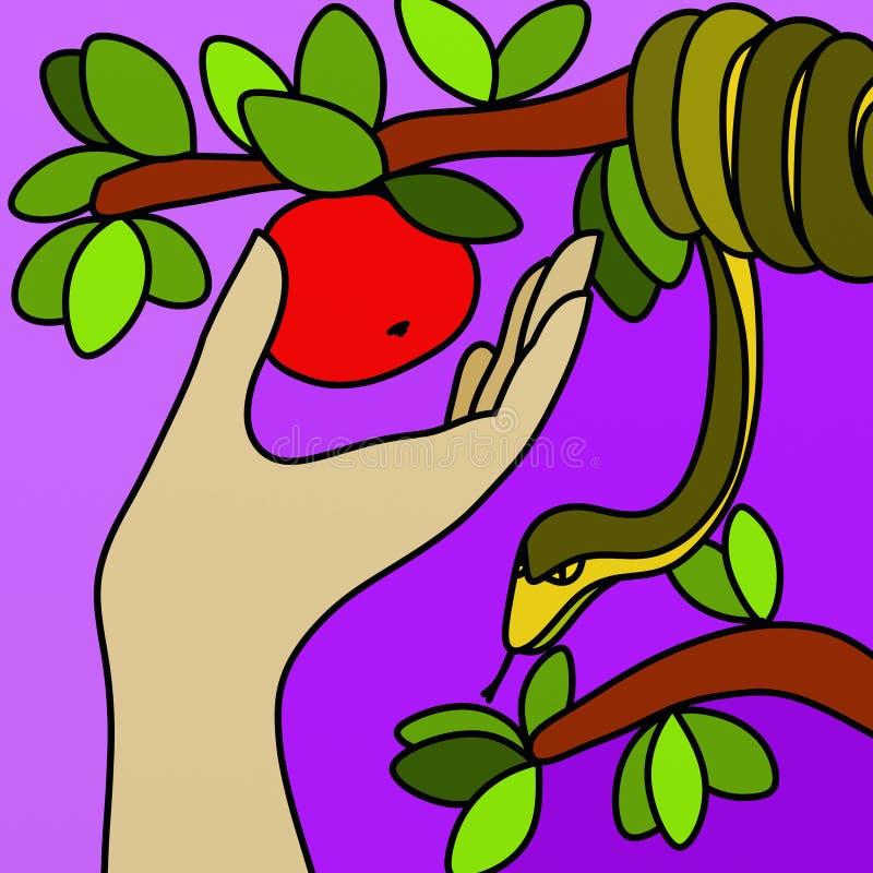 Entregue que recolhe o fruto ilustração royalty free