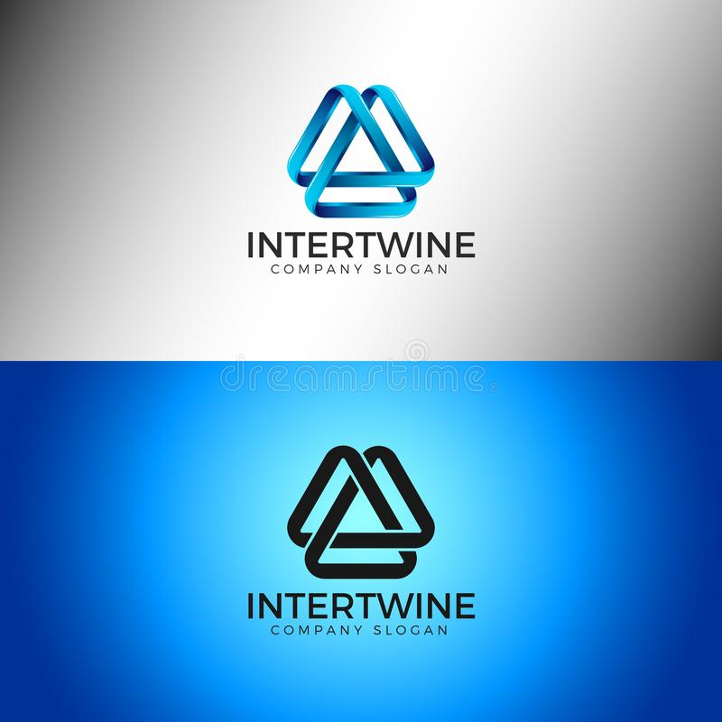 Entrelacez - l'infini abstrait Logo Template illustration stock