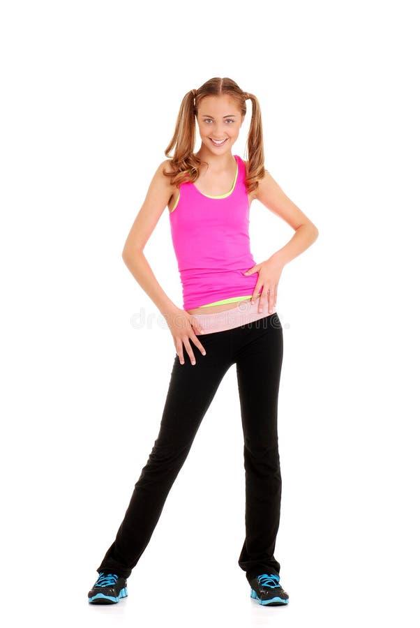 Entrenamiento adolescente del zumba del baile de la muchacha foto de archivo libre de regalías