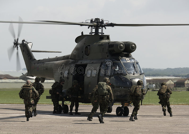 Entrenamiento de ejército británico fotos de archivo