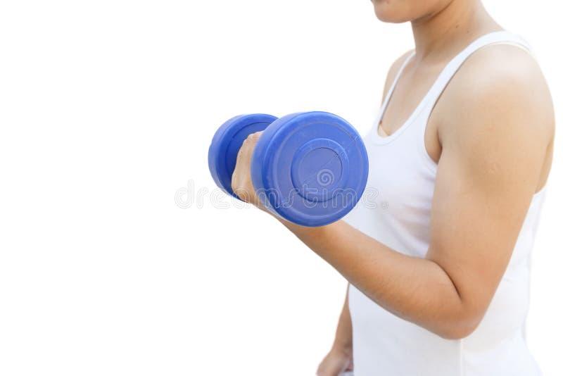 Entrenamiento de la mujer de la aptitud con pesa de gimnasia fotografía de archivo libre de regalías