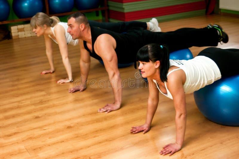 Entrenamiento de Pilates foto de archivo