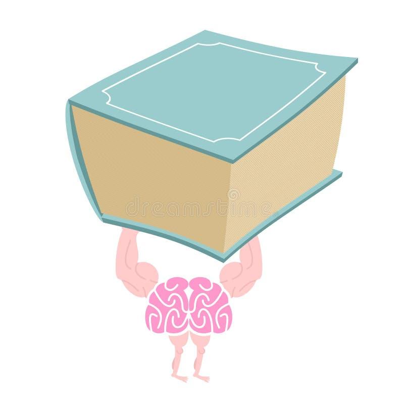 Entrenamiento del cerebro Aptitud para la mente Cerebro elegante fuerte y un g ilustración del vector