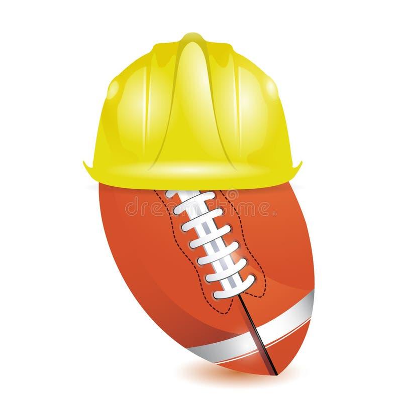 Entrenamiento del fútbol. bajo construcción libre illustration