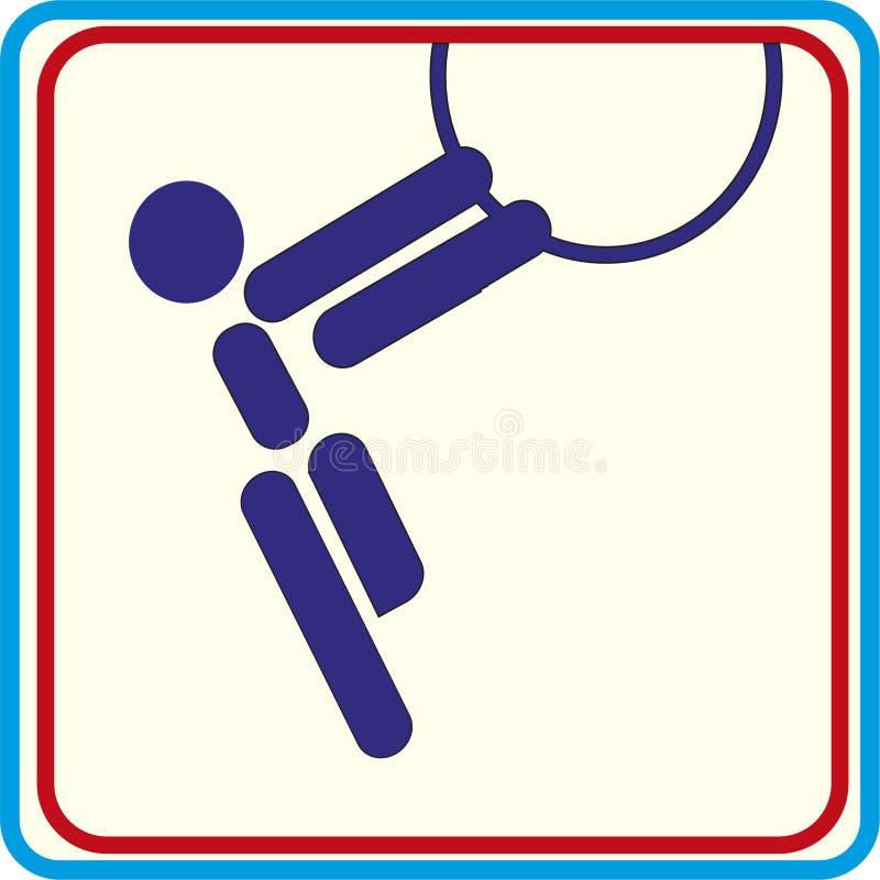 Entrenamiento del gimnasta del deporte, icono, ejemplos ilustración del vector