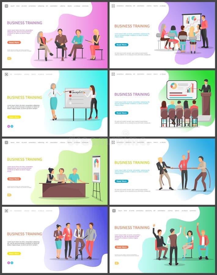 Entrenamiento del negocio, aprendizaje de New Tricks Company stock de ilustración