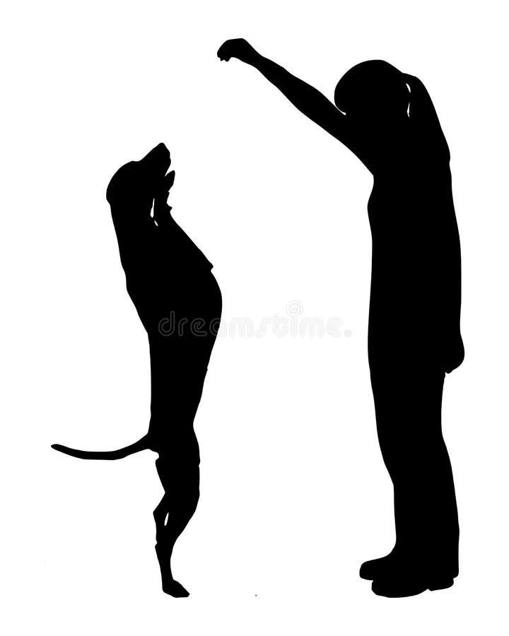 Entrenamiento del perro (obediencia) stock de ilustración