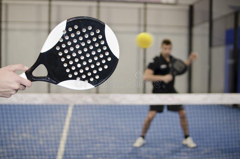 Entrenamiento del tenis de la paleta imagen de archivo