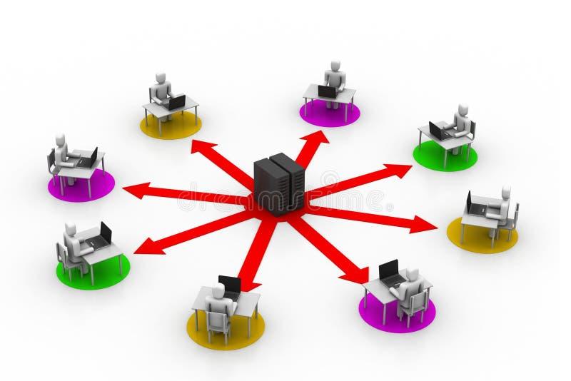 Entrenamiento en línea ilustración del vector
