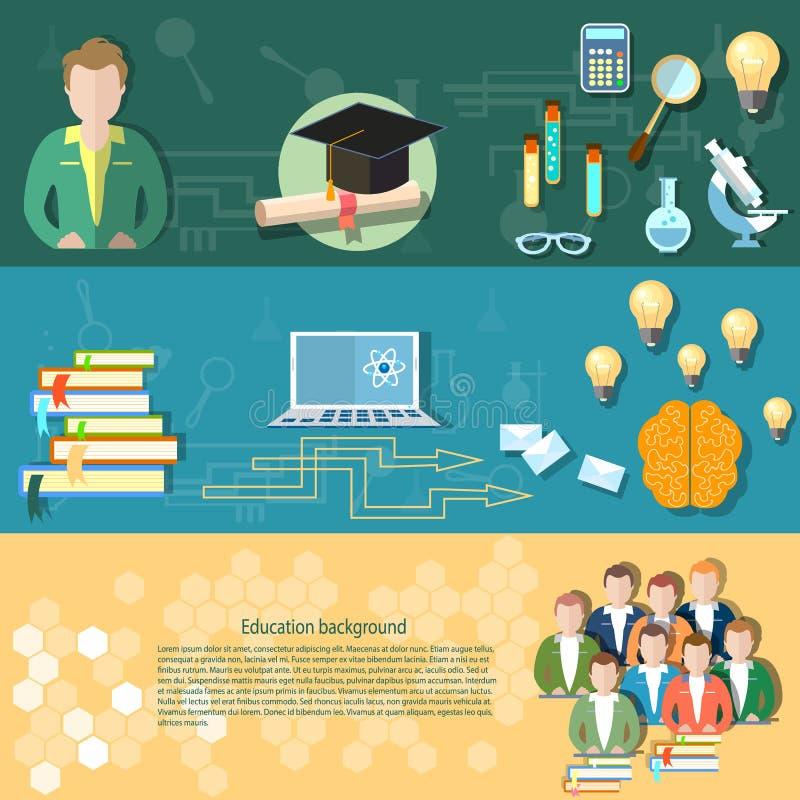 Entrenamiento en línea del profesor de los exámenes de los estudiantes de la ciencia y de la educación libre illustration
