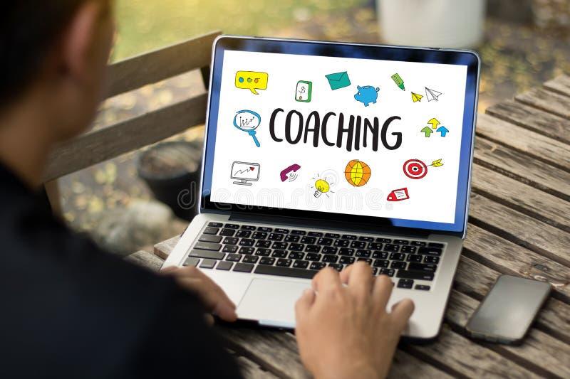 ENTRENAR el planeamiento de entrenamiento que aprende el Ins de la guía del negocio que entrena stock de ilustración