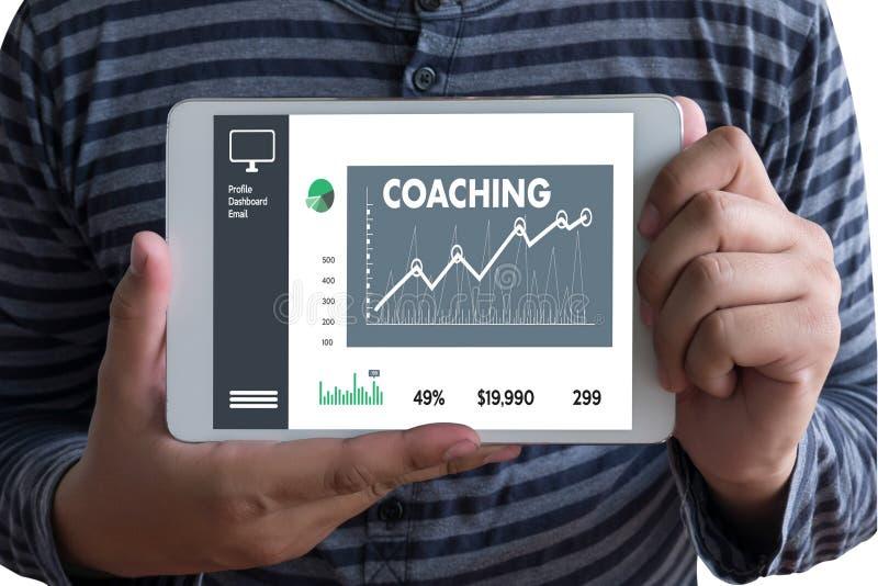 ENTRENAR el planeamiento de entrenamiento que aprende entrenando a la guía Inst del negocio stock de ilustración