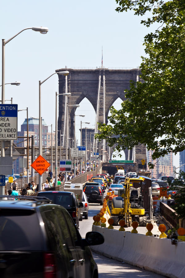 entrence brooklyn моста стоковое фото rf