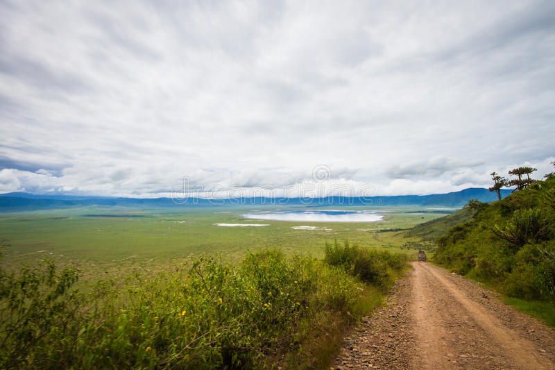 Entrence di Ngorongoro fotografia stock