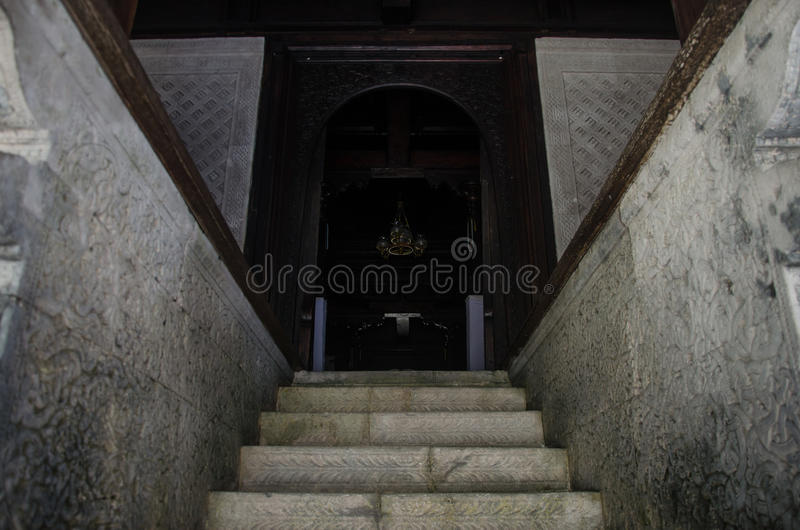 Entrence to the holy mosque stock images