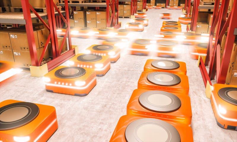 Entrepôt automatisé moderne illustration de vecteur
