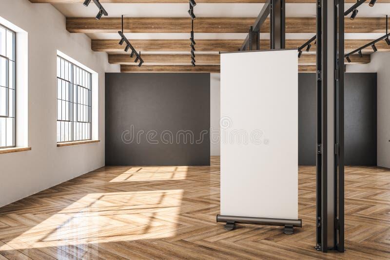 Entrepôt contemporain avec le panneau d'affichage illustration stock