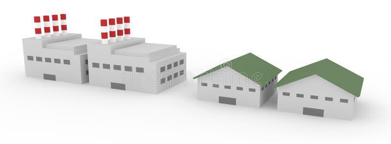 Entrepôt d'usine illustration libre de droits