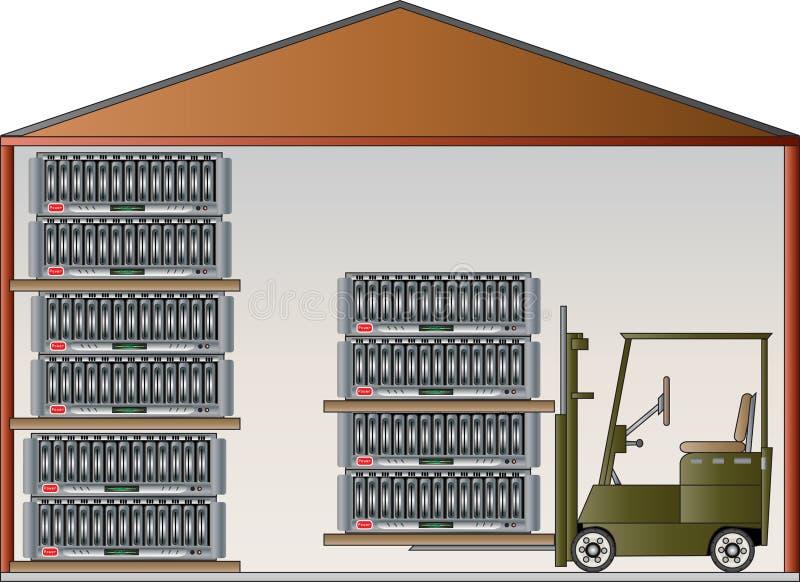 Entrepôt de données illustration de vecteur