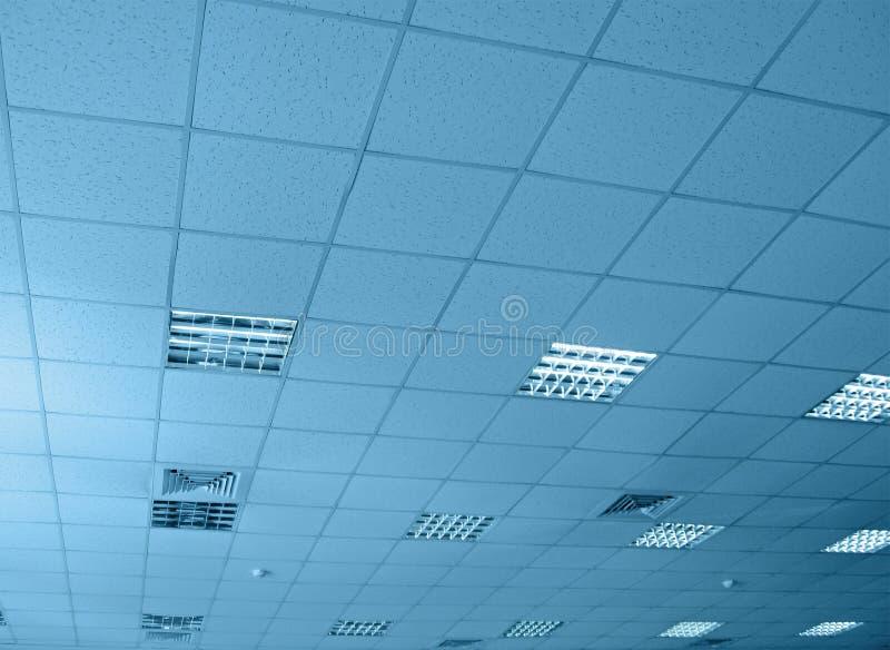 Entrepôt intérieur bleu, construction, images libres de droits