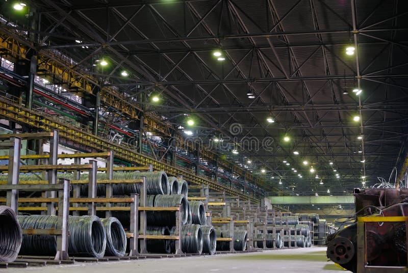 Entrepôt métallurgique industriel photographie stock