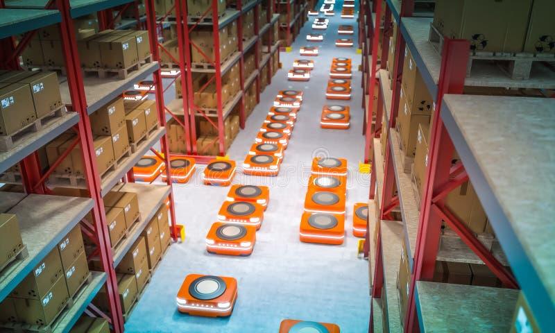 Entrepôt moderne automatisé illustration libre de droits