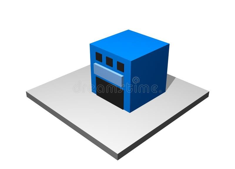 Entrepôt - tableau industriel de fabrication illustration libre de droits