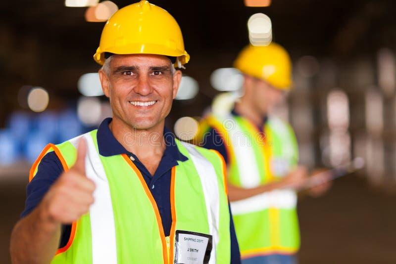 Entrepôt supérieur de travailleur image libre de droits