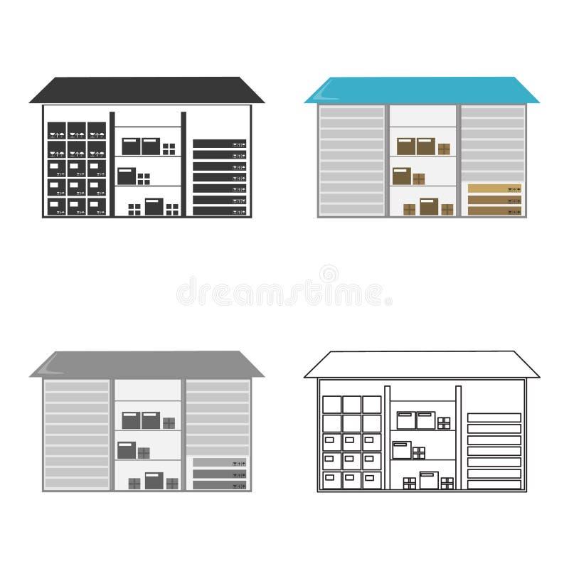 Entreposez l'icône de l'illustration de vecteur pour le Web et le mobile illustration de vecteur