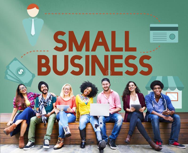 Entreprenör Conc för äganderätt för produkter för små och medelstora företagnischmarknad arkivbilder