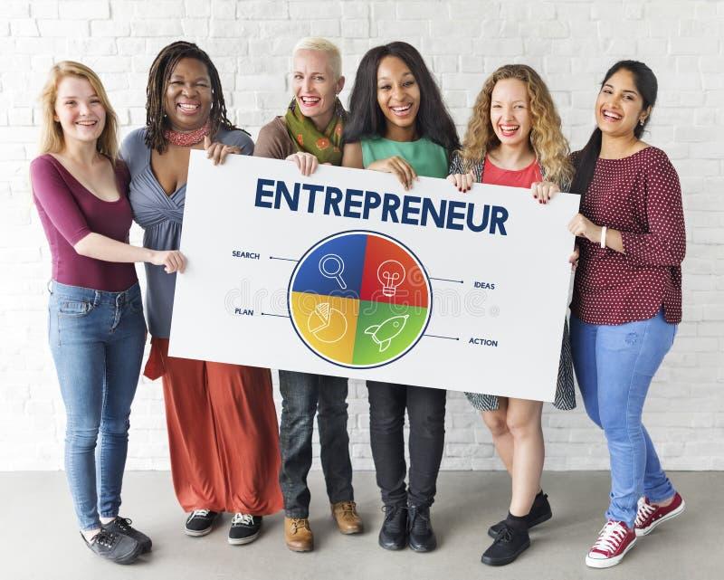 Entreprenör Strategy Target Concept för affärsstart fotografering för bildbyråer