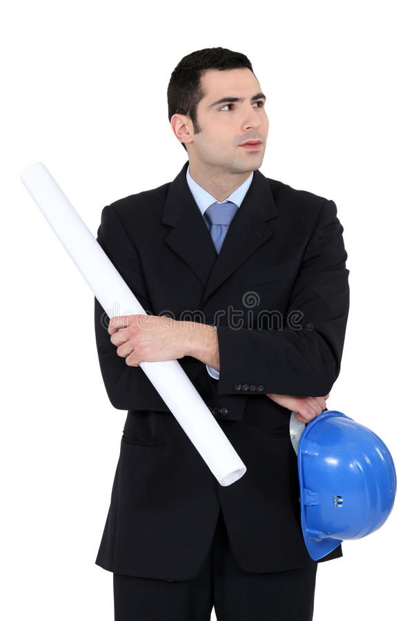 Entrepreneur. Standing on white background stock photos
