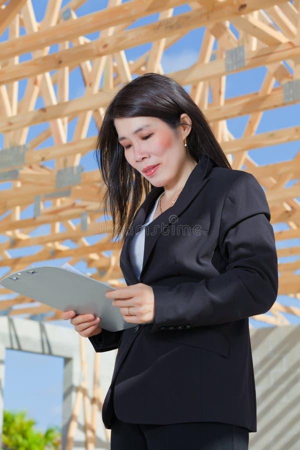 Entrepreneur asiatique de femme photos libres de droits