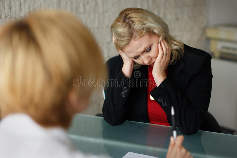Entrepreneur in bankrupt. Business failure, situation in office stock photos