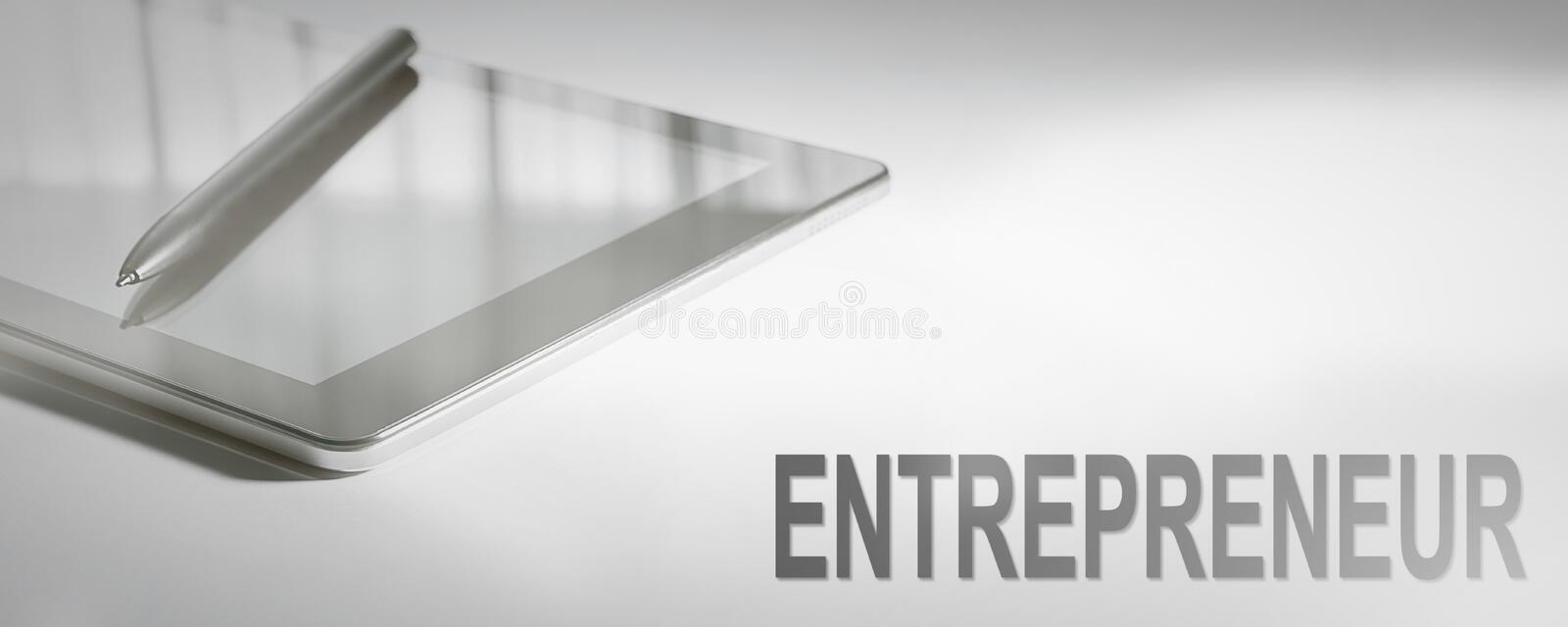 ENTREPRENEUR Business Concept Digital Technology. royalty free stock photography