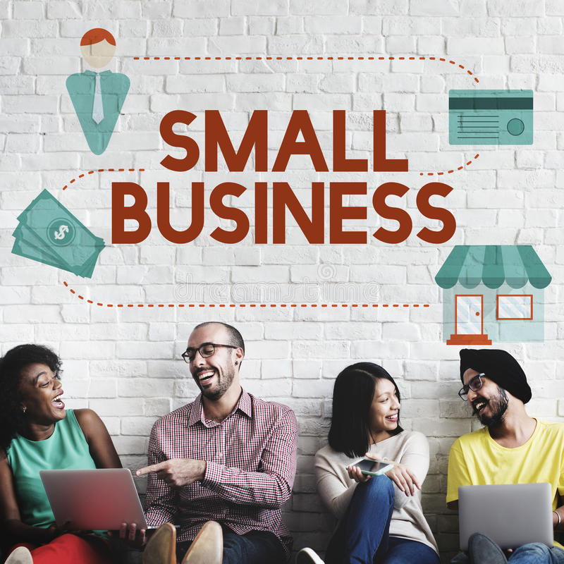 Entrepreneur Conc de propriété de produits de marché de niches de petite entreprise photos libres de droits