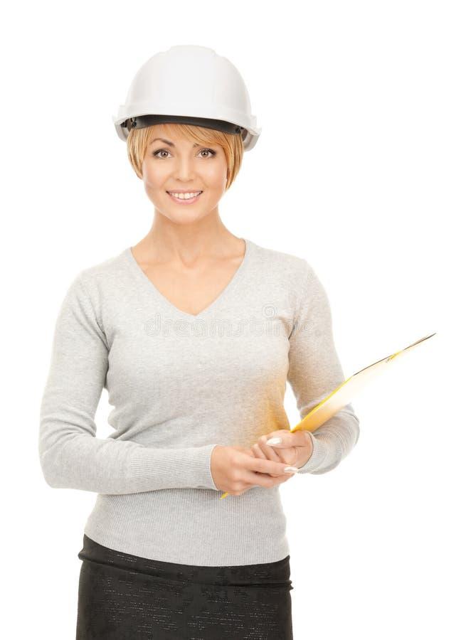 Entrepreneur dans le casque images stock