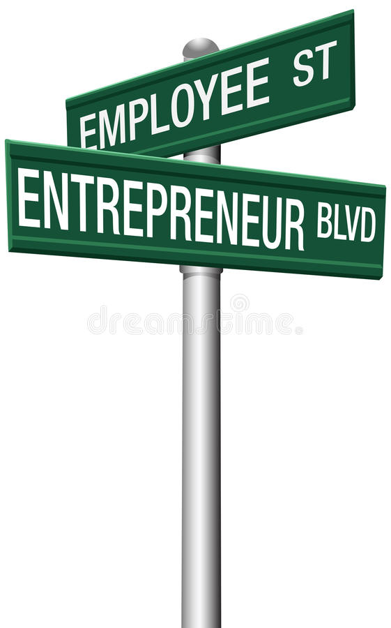Entrepreneur Employee Street choice signs stock illustration