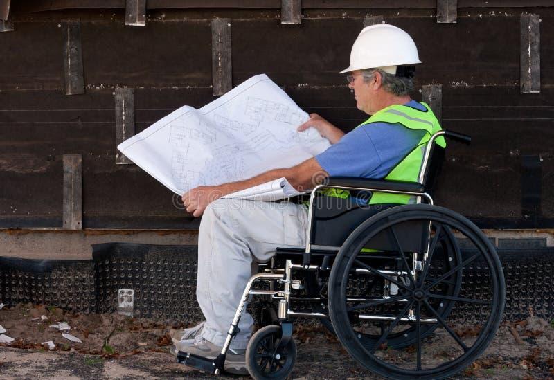 Entrepreneur handicapé images stock