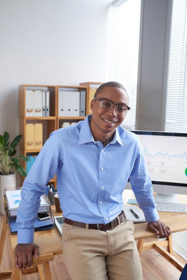 Entrepreneur heureux photo libre de droits