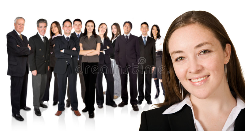 Download Entrepreneur And His Business Team Stock Image - Image: 1428417